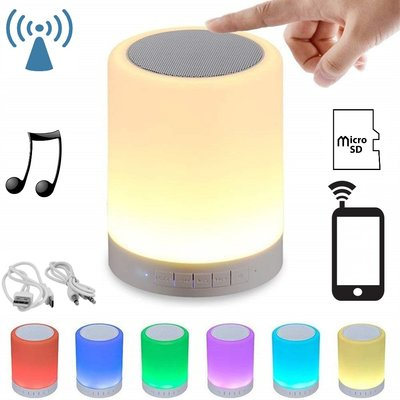 Tafellamp met speaker - Bluetooth - RGB LED + WW - Incl. usb en 3.5 kabel